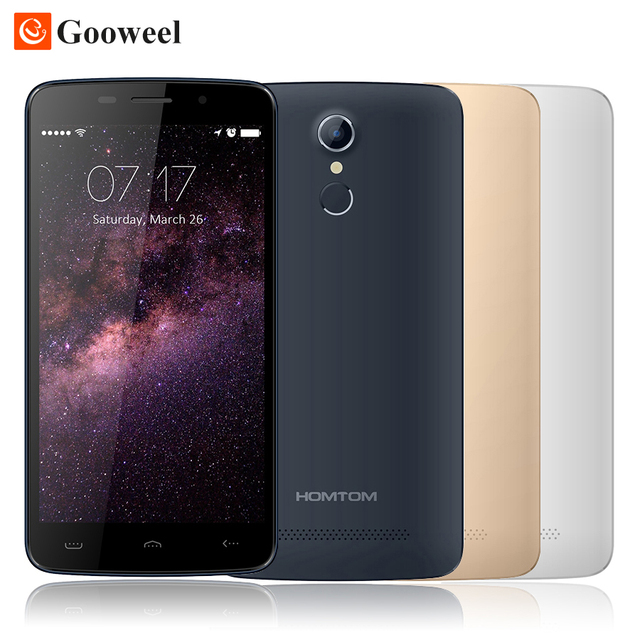 Original HOMTOM HT17 smartphone 5.5 inch Android 6.0 MTK6737 Quad Core 1GB+8GB 3000mAh 13MP OTG fingerprint 4G FDD Mobile phone