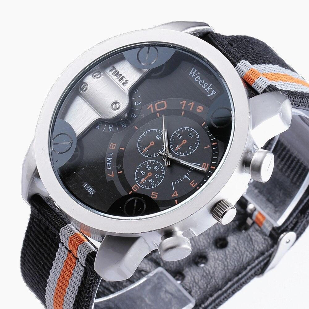 Brand WEESKY Watches Men Fashion Casual Sport Clock Classical Nylon Male Quartz Wrist Watch Relogio Masculino Feminino