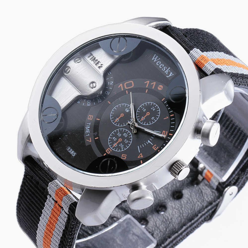 ブランド WEESKY 腕時計男性ファッションカジュアルスポーツ時計古典的なナイロン男性クォーツ腕時計レロジオ Masculino Feminino