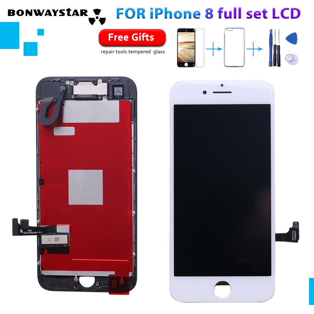 No Dead Pixe Full Set LCD Complete For Iphone 8 8G Touch Screen Digitizer Assembly Complete with 3D+front camera Flex 3 GiftNo Dead Pixe Full Set LCD Complete For Iphone 8 8G Touch Screen Digitizer Assembly Complete with 3D+front camera Flex 3 Gift