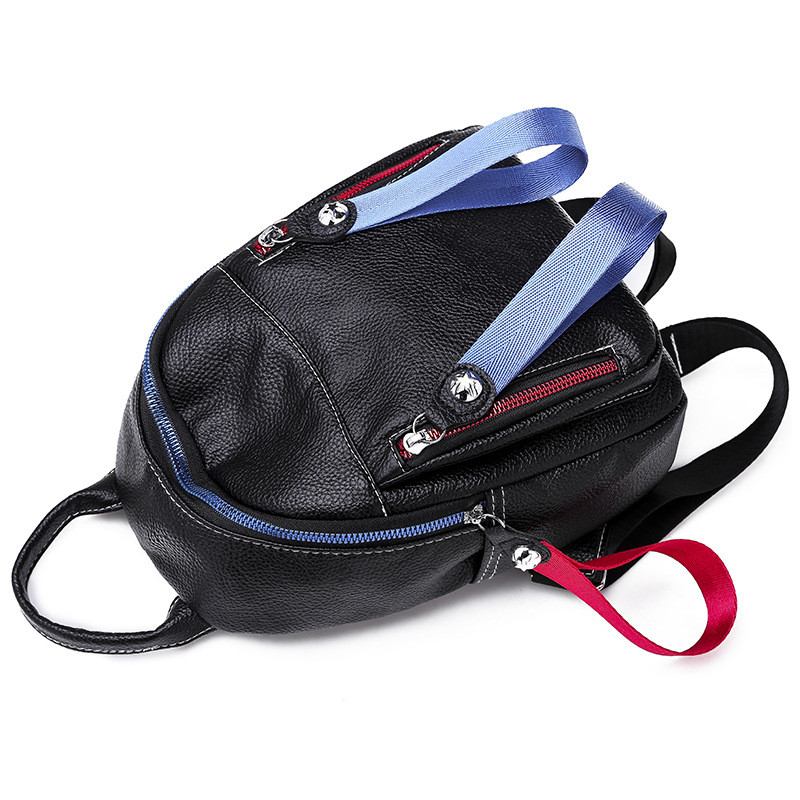 Fashion Women Backpack High Quality Youth Leather Backpacks for Teenage Girls Female School Shoulder Bag Bagpack mochila PB08 in Backpacks from Luggage Bags