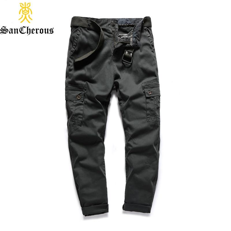100% Wahr Neue 100% Baumwolle Multi-tasche Mann Lässige Cargo Pants Ganzkörperansicht Oberbekleidung Mann Lange Hose Größe 30-40 VerrüCkter Preis Hosen