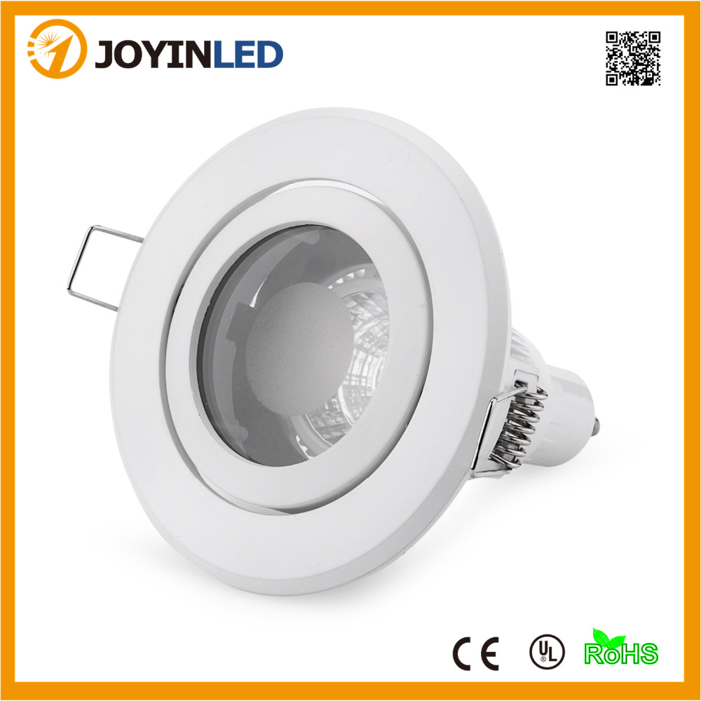 Led Deckenleuchte S Spot Mit Rotem Dekoring Us 7 06 28 Off Open Hole 85mm White Aluminum Recessed Led Ceiling Light Frame Gu10 Trim Ring Fitting Kits For Home In Led Bulbs Tubes From Lights