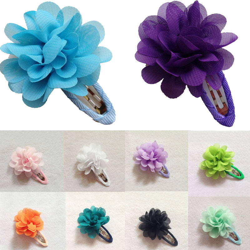 LNRRABC Sale 2 Pcs Baby Children Girls Kids Flower Pumpkin Hair Clip Hairpins Floral Barrette Toddler Hair Accessories Gift baby cute style children accessories hairpins rabbit fur ear kids girls barrette lovely hair clip