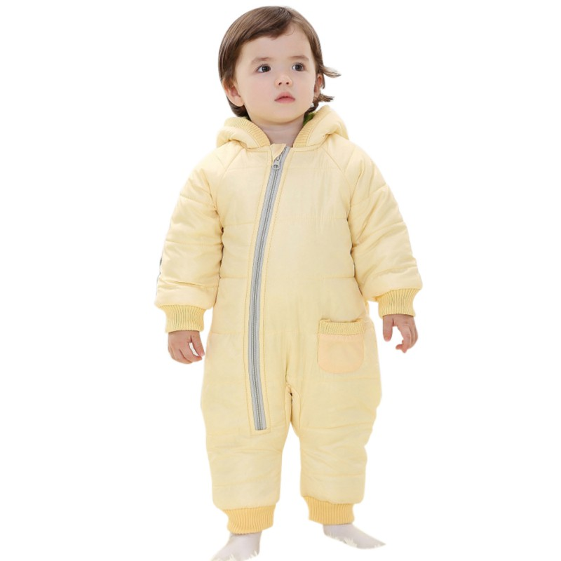 New 2017 Autumn Baby Rompers Winter Thick Cotton Boys Costume Girls Warm Clothes Kid Jumpsuit Children Outerwear new brand children outerwear hooded winter clothes baby boys girls windproof warm down cotton rompers for 0 24m 3 colors
