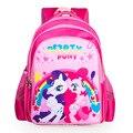 2017 новых детей мультфильм my little pony школьный девушки прекрасный рюкзак школьный Для детей дети Рождественский подарок bags888