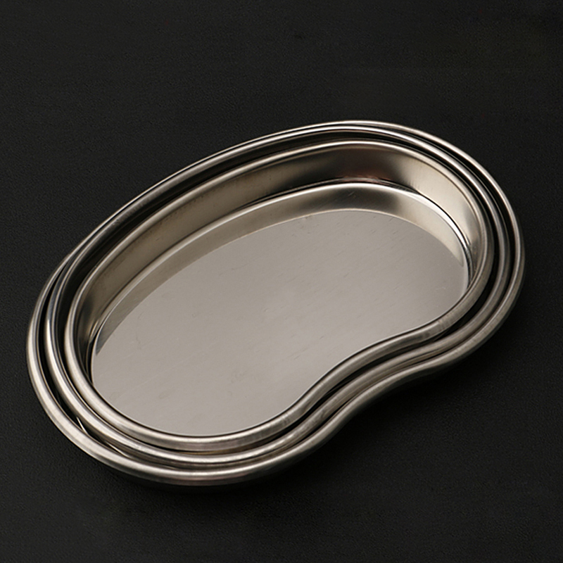 1pcs Bending Stainless Steel Surgical Medical Dental Instruments Tray Disinfection Plate Small Size For Tattoo Sterilization
