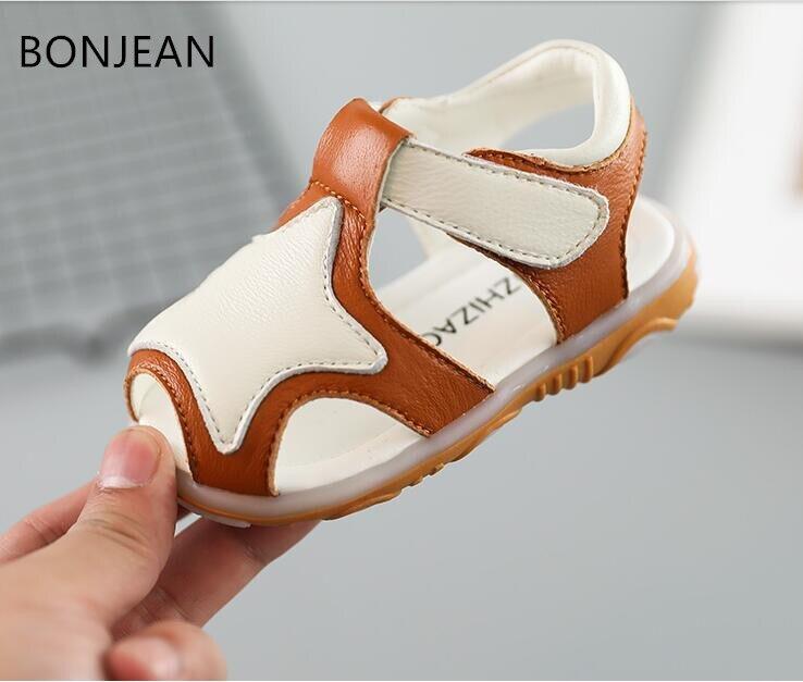 2018 детские сандалии 1-3 нескользящая обувь с мягкой подошвой для маленьких мальчиков летние мальчики ребенок 1-3 детская обувь малыша yyx36