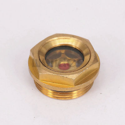 M27x1.5mm Metric Male Brass Oil Level Sight Glass Window Hex Head For Air Compressor Gearbox