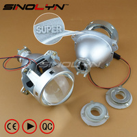 SINOLYN Super 3 0 H1 HID Bi Xenon Lenses Projector Headlight H1 H4 H7 Headlamps Lens