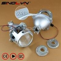 SINOLYN Super 3 0 H1 HID Bi Xenon Lenses Projector Headlight H1 H4 H7 Headlamps Lens