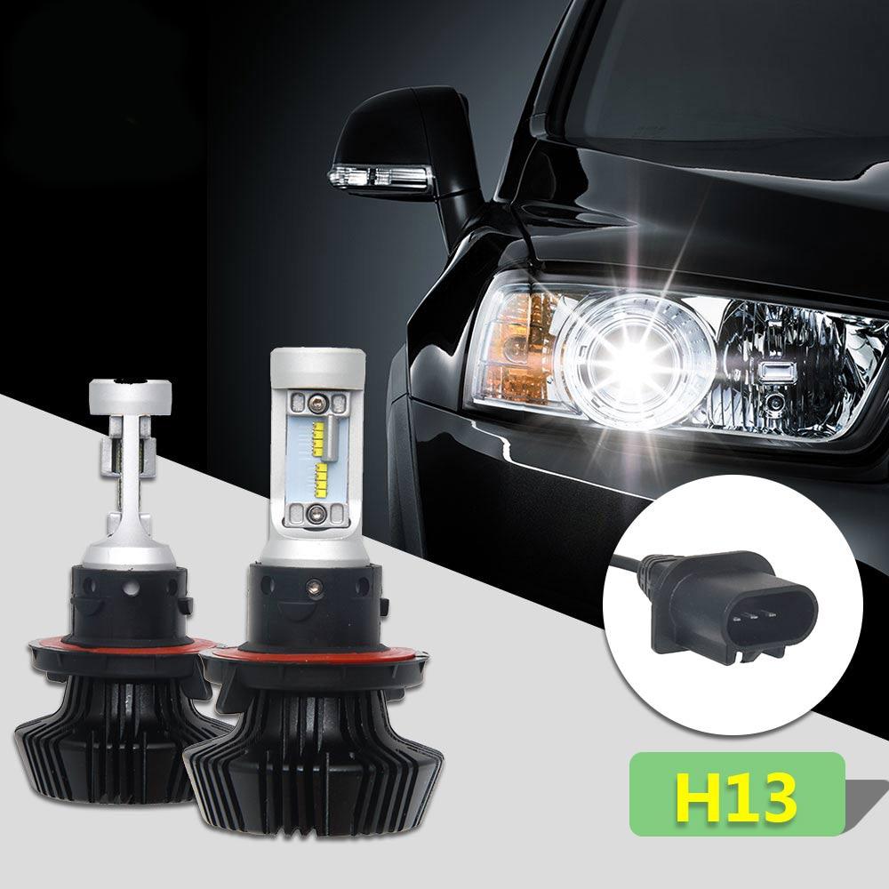 CO LIGHT H4 Led Bulbs 50w Car LED Headlight Bulb with ZES chip DC 12V Cold White 6000K-6500K HI/LO Beam Conversion Kit DRL Light 3156 12w 600lm osram 4 smd 7060 led white light car bulb dc 12v