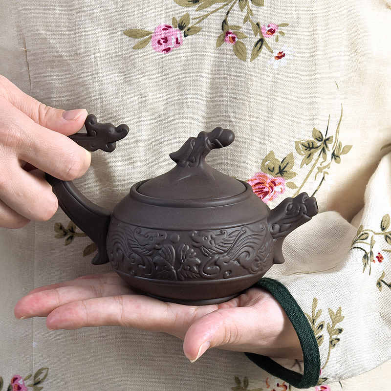 Ceramic tea pot Tea Infusers home office manual reliefs are recommended yixing teapot kung fu tea set ssangyong teapot CL1024234