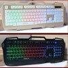 1 Pc Waterproof Dustproof 3 Color Back Light 104 Key Metal Panel Wired Mechanical Keyboard For