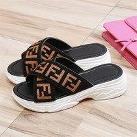 a606c8efba Mules Shoes Women Platform Sandals Summer Wedges Shoes Ladies Beach  Slippers Flip Flops Casual Slides Zapatos