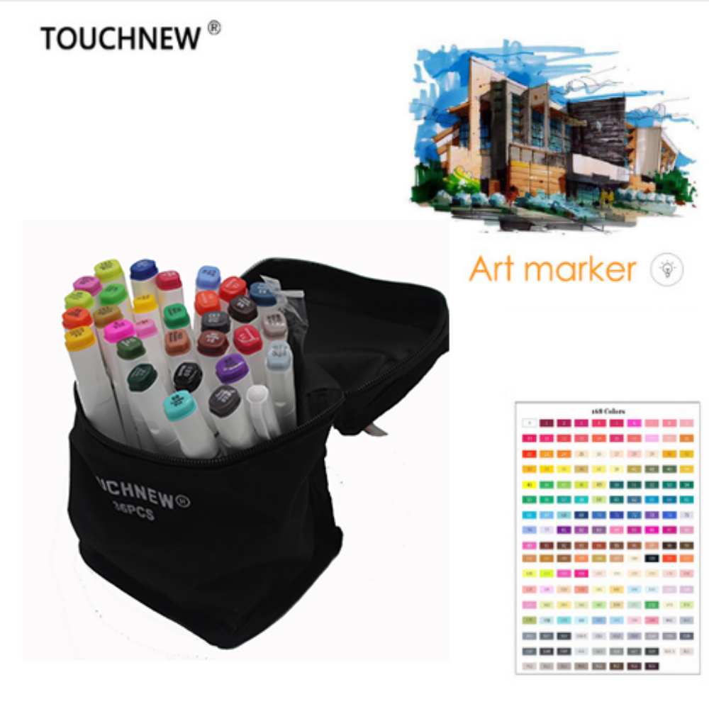Free shipping six generations Mark pen double-headed alcohol oil professional painting 30 36 40 color fine markers manga draw w110145 soft head fine water mark pen 48 60 color beginners painting professional equipment advanced ink student art suit