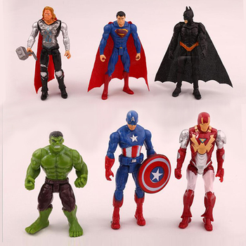 Disney Manway Avengers Alliance Character Superman American Captain Raytheon Hulk Movable Cake Topper Creative Children's Dolls