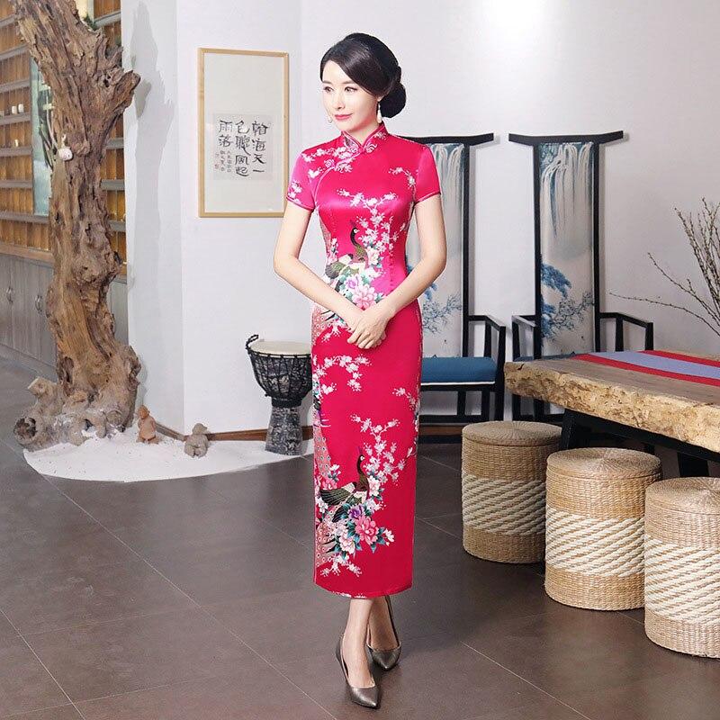 Stage Wear Performance Women Model Chinese Dress Kimono Bathing Robe Tight Bodycon Qipao for Women Cheongsams Tang Suit