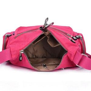 Image 4 - Women Messenger Bags Waterproof Nylon Handbag and Purse Female Shoulder Bag Ladies Crossbody Bags bolsa sac a main