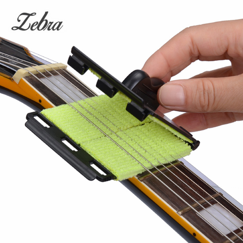 Zebra 1 Pcs Guitar String Cleaner Acoustic Electric Bass Quick-Set Brush Tool for Ukulele Banjo Stringed Musical Instruments zebra black mirror p bass electric guitar pickguard pb scratch plate for ukulele musical stringed instruments parts