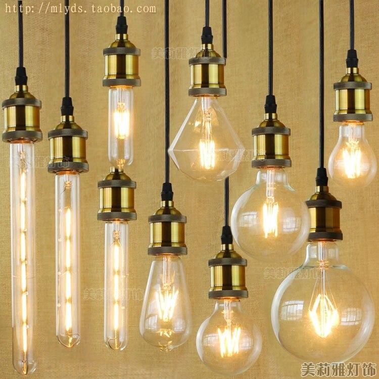 4W E27 220V For Decor LED Bombilla Lampada Edison Lamp Bulb Light Vintage Ampoules Decoratives T10 G80 G95 ST64 T225 T30 iwhd led bombilla retro lamp edison bulb e27 st64 vintage light lampada edison 2w 4w 6w 8w ampoules decoratives