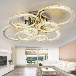 Nowoczesna kryształowa lampa led żyrandol oświetlenie salonu sypialnia lustre cristal żyrandole oświetlenie sufitowe