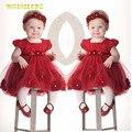 De calidad superior kid girl dress ropa de bebé marca ceremonias vestidos party girls ropa trajes para la muchacha de la boda vestido de bautizo