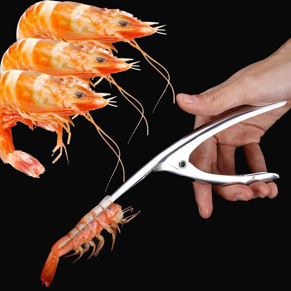 Stainless Steel Prawn Peeler Shrimp Deveiner Peel Device Creative Kitchen Tools|Seafood Tools| |  -