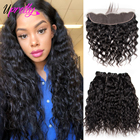 Upretty Hair Water Wave Bundles With Frontal Closure Brazilian Hair Weave 3 Bundles With Closure Human Hair Frontal With Bundles