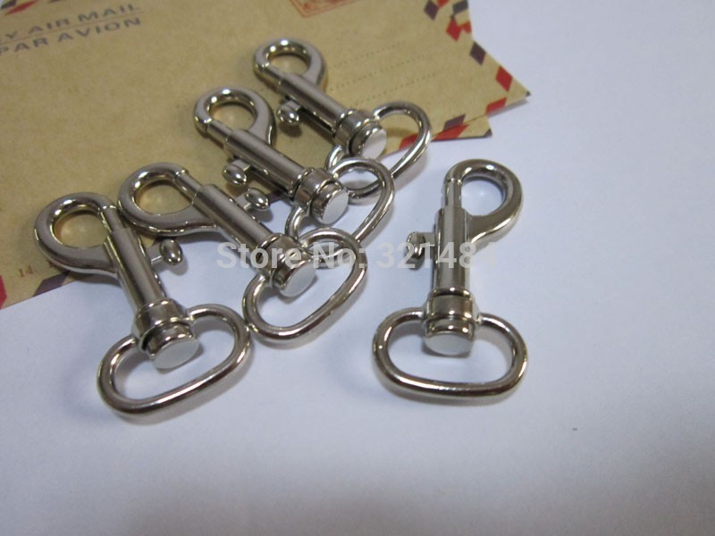 Dull silver plated 100piece 45mm and 15 9mm bottom Swivel lobster clasp snap hook fit Purse