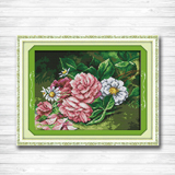 Cross-stitch Humorous Blossom Pansy Flowers Home Decor Painting Counted Print On Canvas Dmc 14ct 11ct Diy Cross Stitch Embroidery Kits Needlework Sets