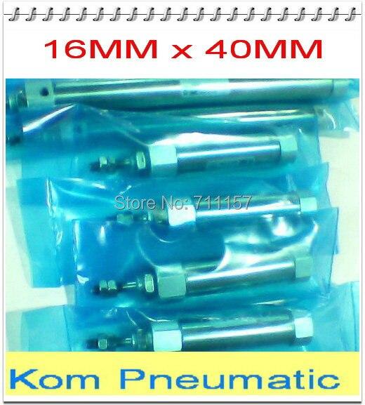 Воздушный цилиндр из нержавеющей стали 304 типа SMC CDJ2B, диаметр 16 мм, ход 40 мм, пневматические мини-Цилиндры cdj2b 16*40 16-40
