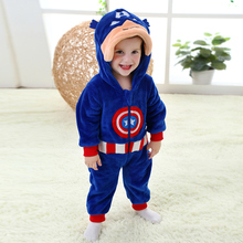 The baby's clothing fashion flannel suits America captain other Romper climbing clothes