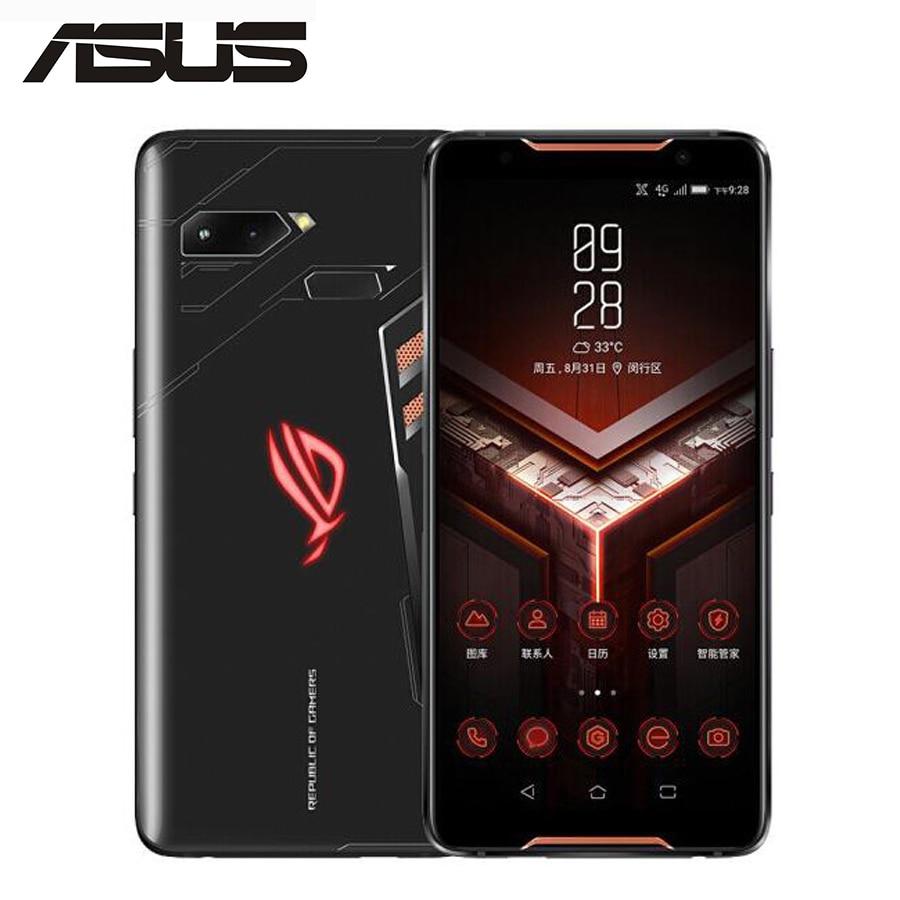 Version mondiale ASUS ROG téléphone ZS600KL téléphone de jeu 6.0 18:9 écran 4G LTE 8 GB 128 GB Snapdragon 845 OctaCore 4000 mAh Android 8.1