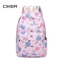 CIKER Women printing backpack escolar school bags women's canvas backpack teenage girls fashion shoulder bag laptop backpack