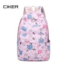 Ciker женщины печати рюкзак эсколар школьные сумки женские холст рюкзак девочки-подростки моды сумка рюкзак для ноутбука