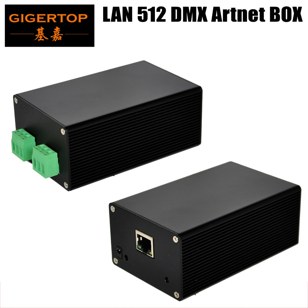 TIPTOP TP-D14 LAN512 Controller Box Internet Socket Green DMX IN/OUT Connection DMX 512 Interface No Key Remote Control Art-net cd key battle net warcraft