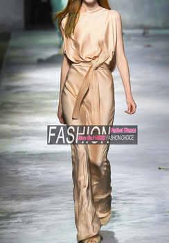 Women\'s Sets 2016 Sleeveless crop top and pants set fashion temperament Silk crop top and Wide leg pants suit 2 piece set women - DISCOUNT ITEM  39 OFF Women\'s Clothing