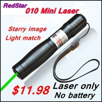 RedStar 010 Mini Laser Only 1000mW Green Laser Pointer Starry Image Without 16340 Battery And