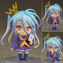 NO GAME NO LIFE Shiro Q version Anime Action Figure PVC New Collection figures toys Collection for Christmas gift