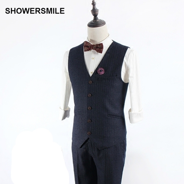 Brand Mens Suit Vest Brown Slim Fit Stripe Suit Jacket Sleeveless Waistcoat Business Casual Clothing Wedding Dress Vest Vintage
