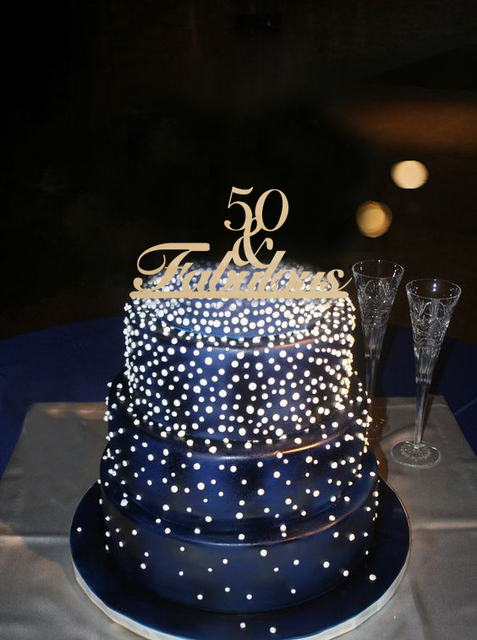 Benutzerdefinierte Farbe 50 Fabulous Geburtstag Party Dekoration