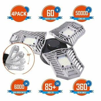 60W LED Garage Licht 144 LED 220V Verformbaren Lumen Decke Licht Led Bergbau Lampen Für Parkplatz Lager Industrie Keller