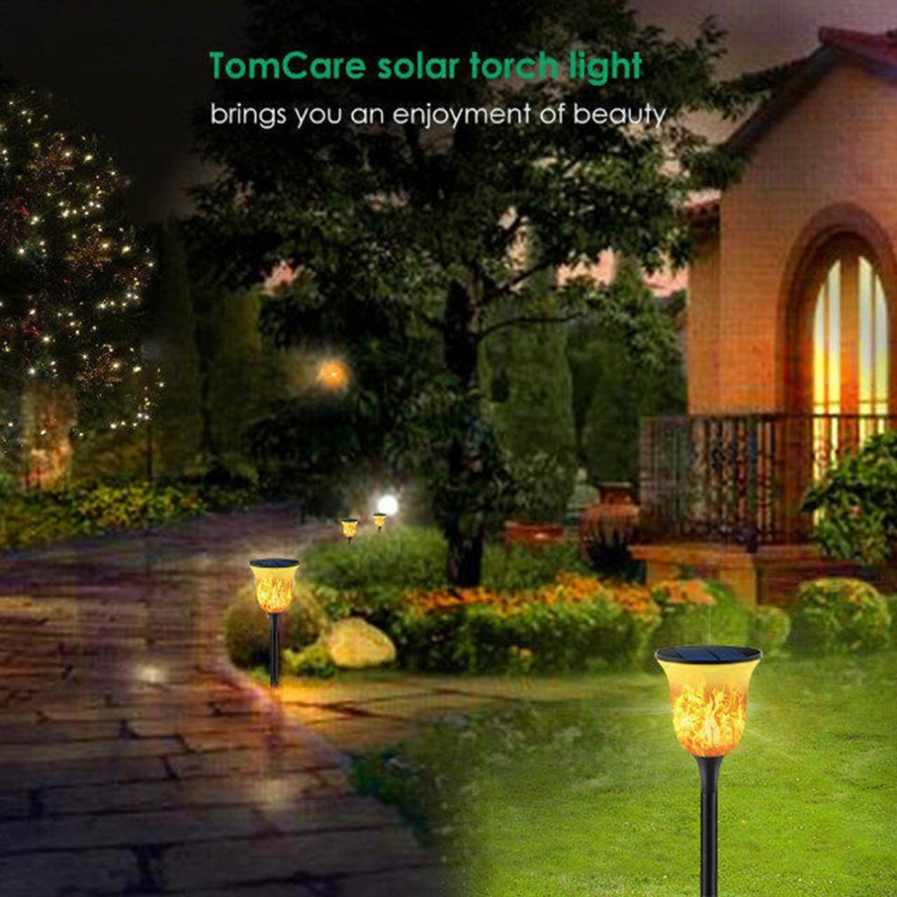 96LED Solar Torch Light Flame Flickering LED Light IP65 Waterproof Outdoor Decor Light With Spike For Garden Path Lawn hot 96led solar powered flame flickering wall light vintage lamp outdoor waterfproof garden fence door corridor decor