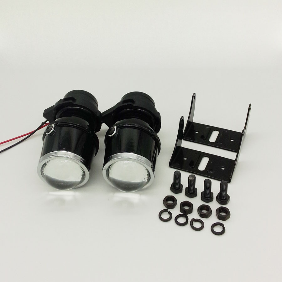RONAN 2.0 pouces universel halogène antibrouillard rénovation projecteur lentille 12 V 55 W Parking lampes de conduite avec H3 ampoules lumière jaune