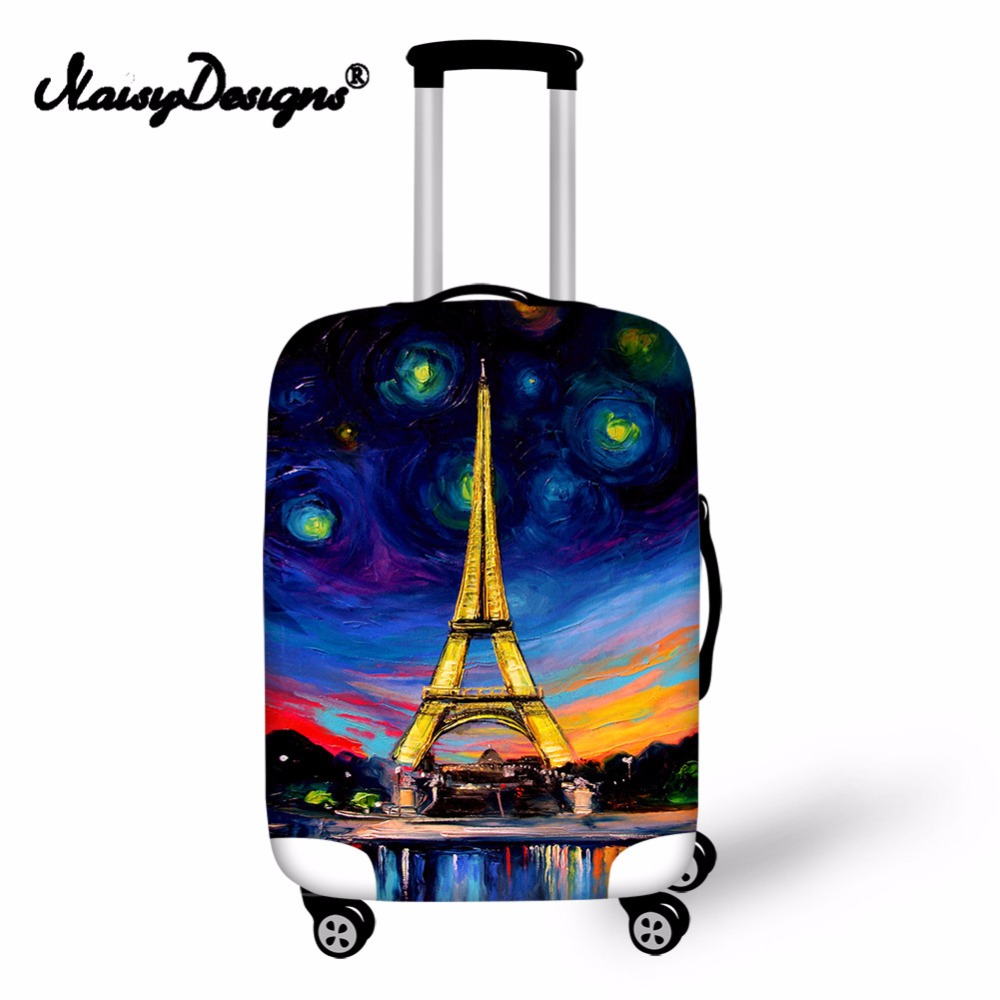 Noisydesigns With Dream Eiffel Tower Elastic Fashion New  Practical Protective Anti-scratch Dust-proof Luggage Cover For S/M/L