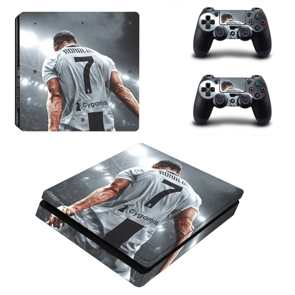 Inventive Cristiano Ronaldo Cr7 And Messi Ps4 Slim Skin Sticker For Playstation 4 Console And Controllers Decal Ps4 Slim Sticker Vinyl