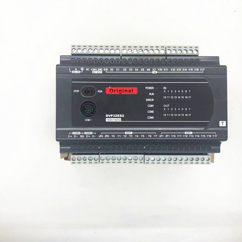 Boxed Original DELTA DVP32ES200T ES2 Series Programmable controller 100 240VAC 16DI 16DO PLC New