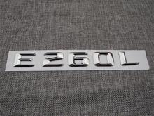 ABS Plastic Car Trunk Rear Letters Badge Emblem Decal Sticker for Mercedes Benz E Class E260L