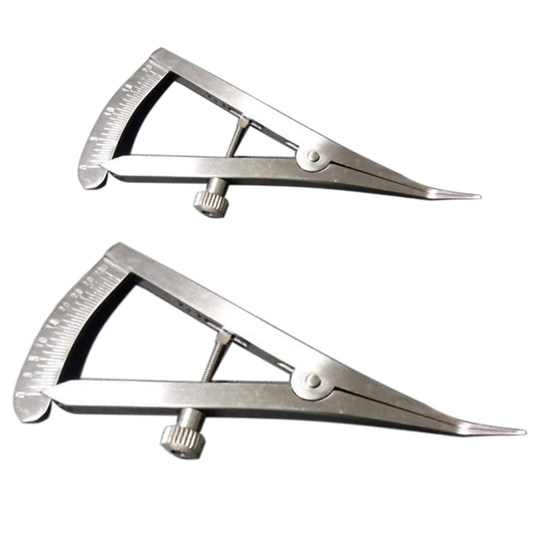 1 PCS Metal Dental Gauge Caliper Dental Caliper Elbow Dental Lab Orthopedic Tool  Castroviejo Bone Calipers